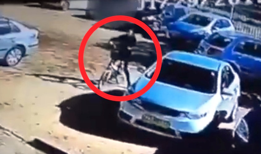 גנב האופניים. צילום: דוברות המשטרה