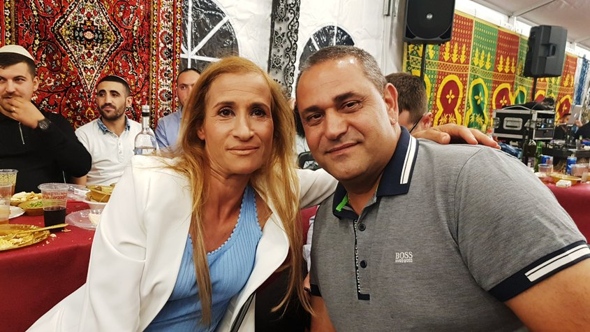 אילנית חג'ג' ובעלה