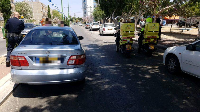 """זירת התאונה ברחוב יוספטל. צילום: תיעוד מבצעי מד""""א"""