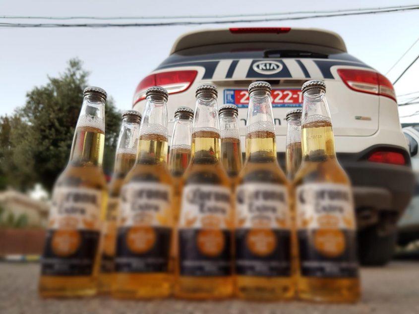 המשטרה נלחמת בתופעת מכירת האלכוהול לקטינים. צילום: דוברות המשטרה
