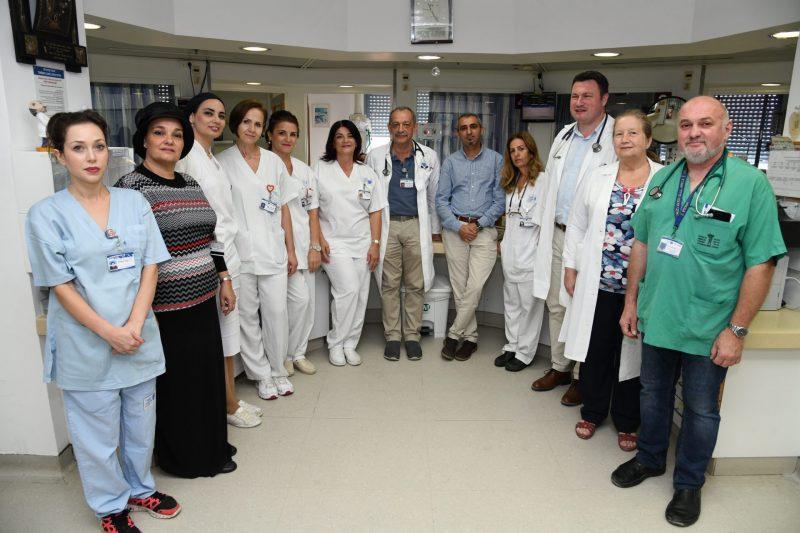 צוות מחלקת טיפול נמרץ לב - קרדיט צילום מורן ניסים צילום רפואי ברזילי