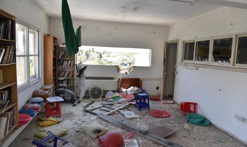 הבית שנפגע בחוף אשקלון. צילום: דוברות המשטרה