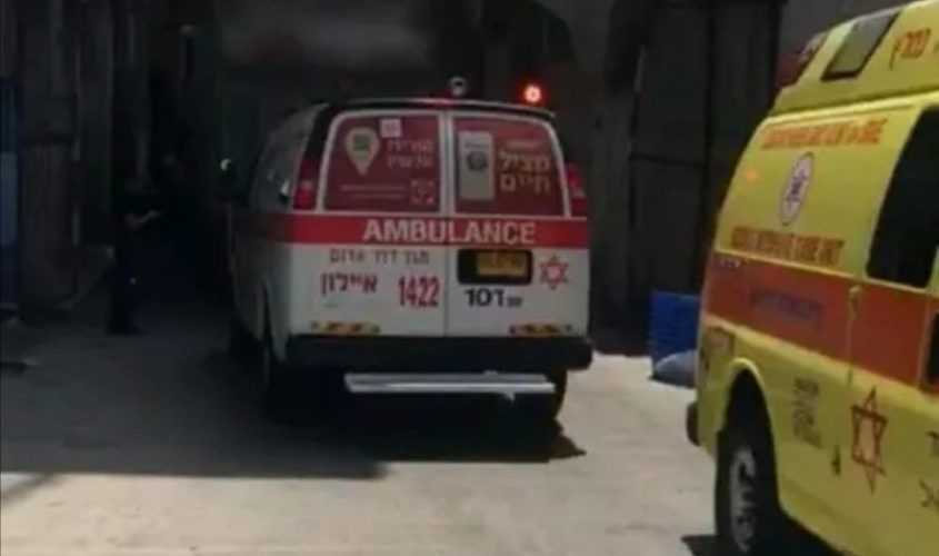 """זירת התאונה. צילום: דוברות מד""""א"""