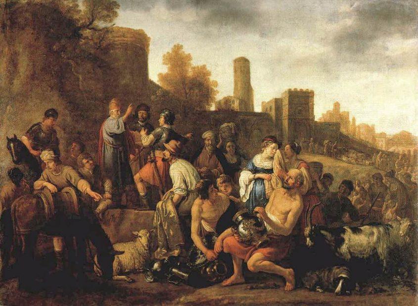 שחיטת המדיינים - ציור מהמאה ה-17 צייר: Moeyaert, Claes Cornelisz