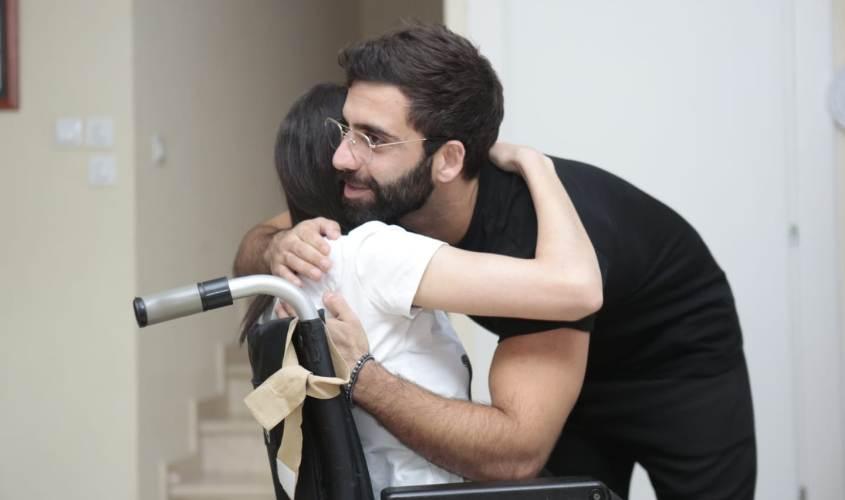אליעד נחום ונועה כהן. צילום: דוברות עיריית אשקלון