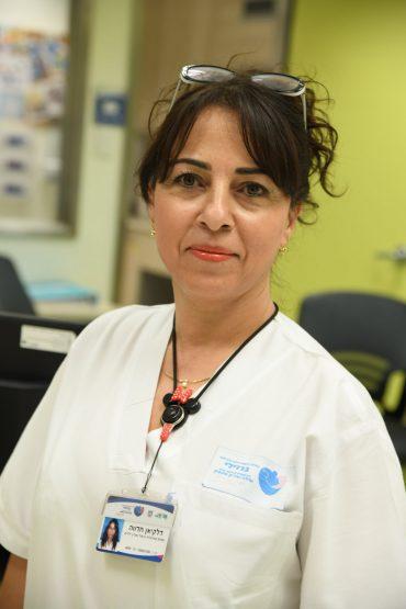 חדווה דלקיאן אחות אחראית טיפול נמרץ ילדים. צילום רפואי: דוד אביעוז, המרכז הרפואי ברזילי