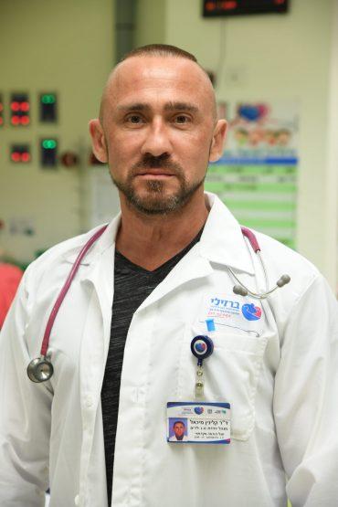 דר מיכאל קלינין מנהל טיפול נמרץ ילדים. צילום רפואי: דוד אביעוז, המרכז הרפואי ברזילי