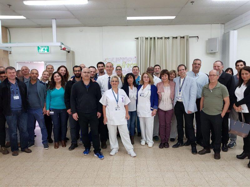 צוות המחלקה האורתופדית. צילום רפואי ברזילי