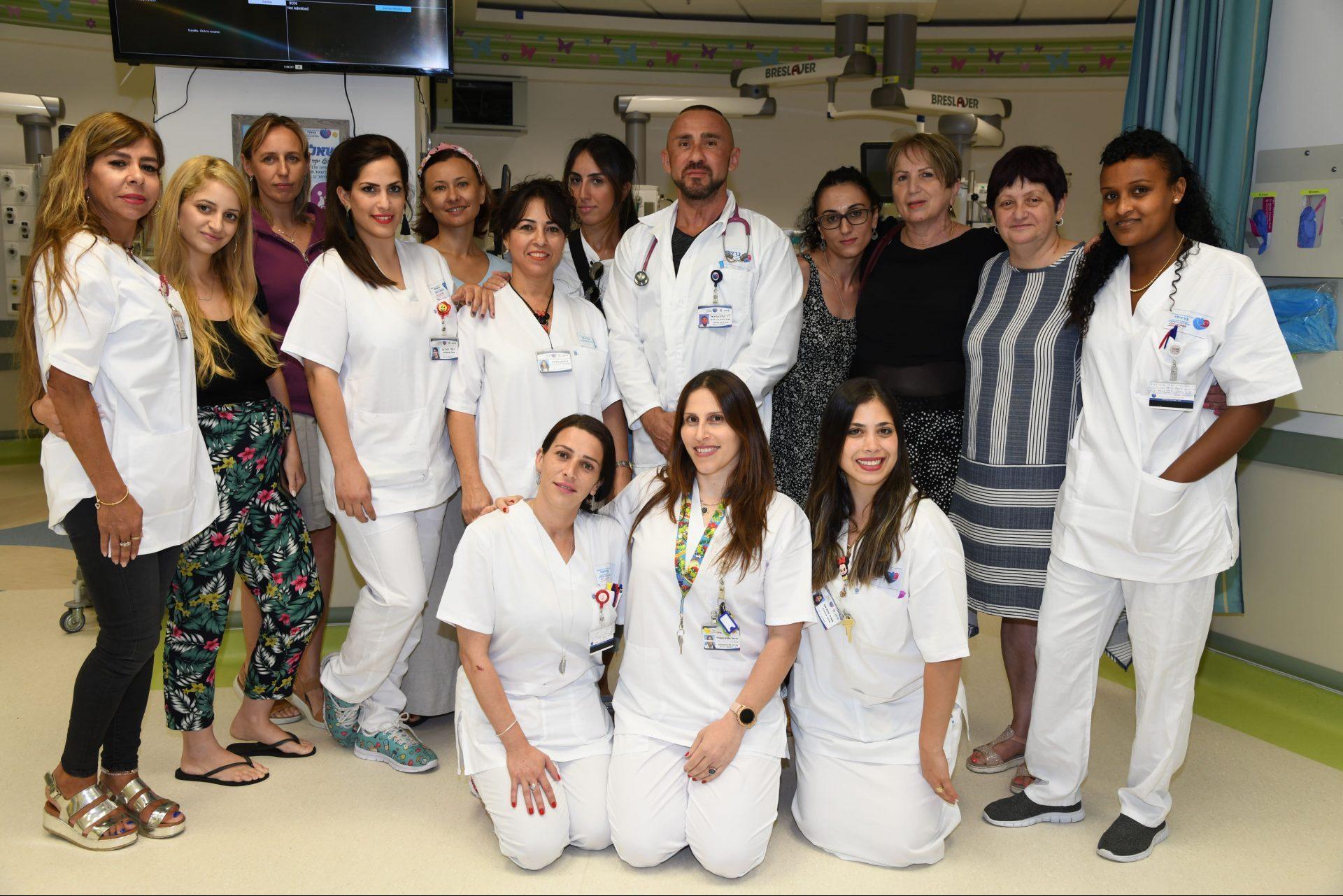מחלקת טיפול נמרץ ילדים. צילום: רפואי דוד אביעוז, המרכז הרפואי ברזילי