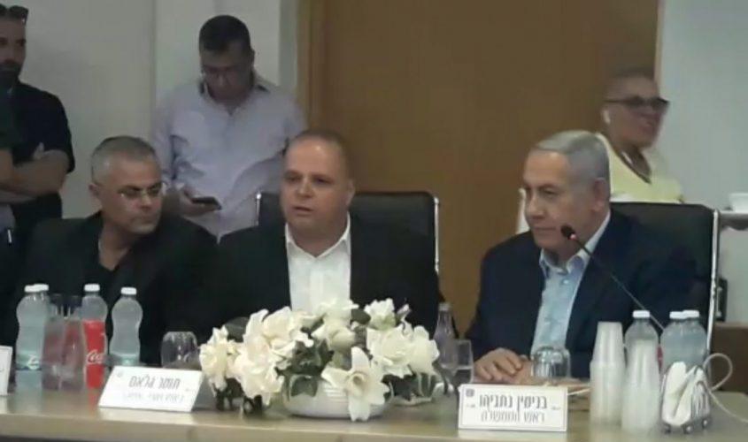 גלאם בישיבה עם ראש הממשלה