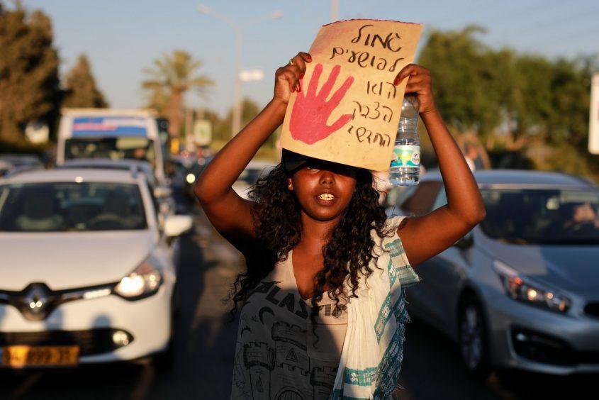הפגנות יוצאי אתיופיה באשקלון. צילום: אילן אסייג