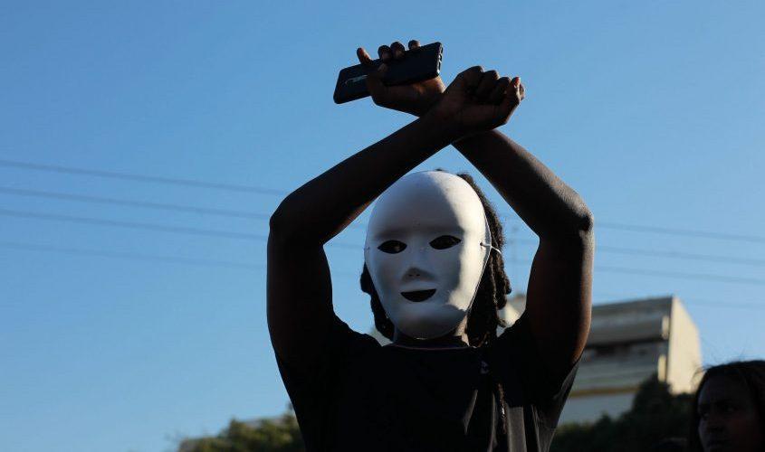 הפגנת יוצאי אתיופיה באשקלון. צילום: אילן אסייג