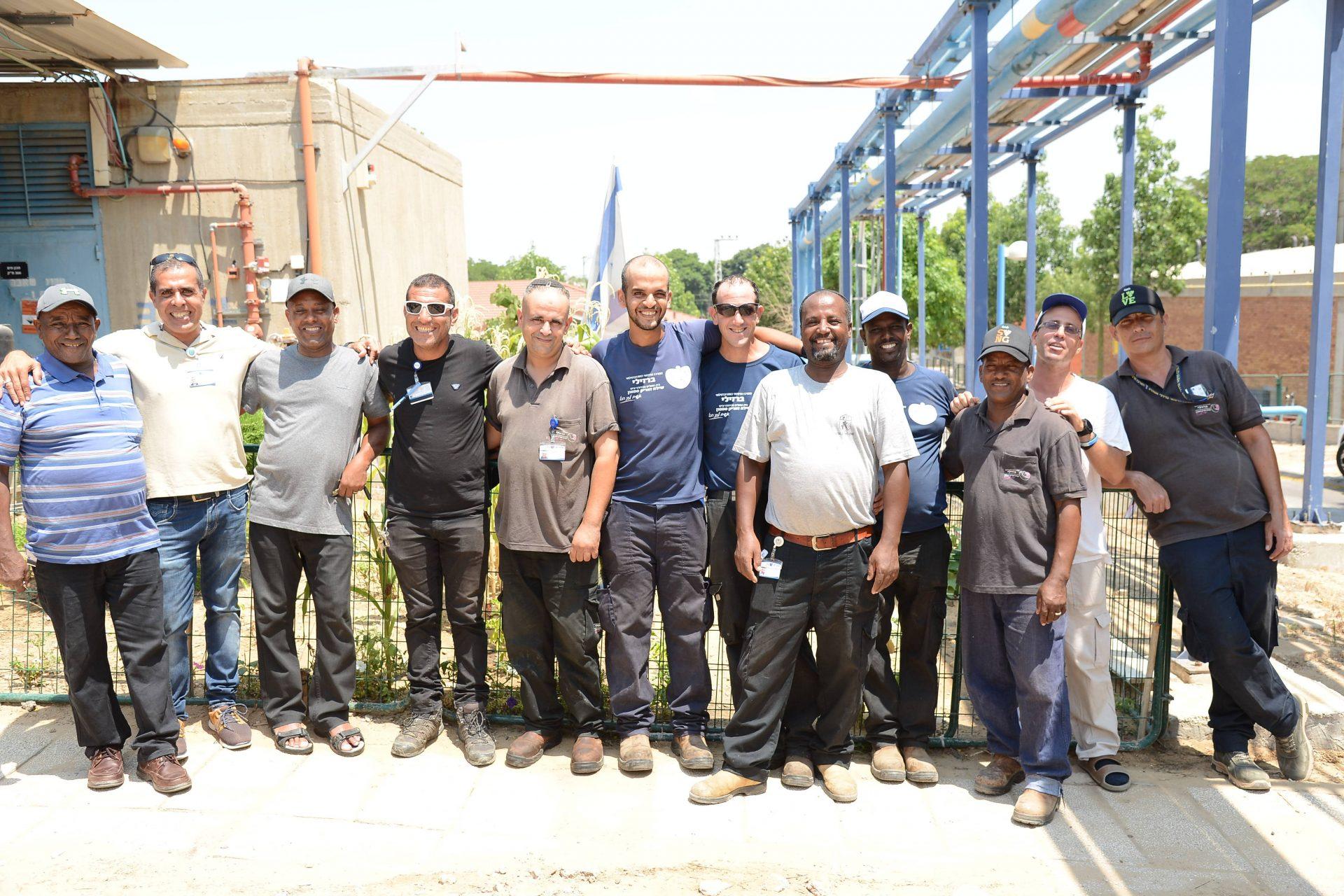 כוח לעובד: המרכז הרפואי ברזילי שם את העובדים במרכז. צילום: המרכז הרפואי ברזילי