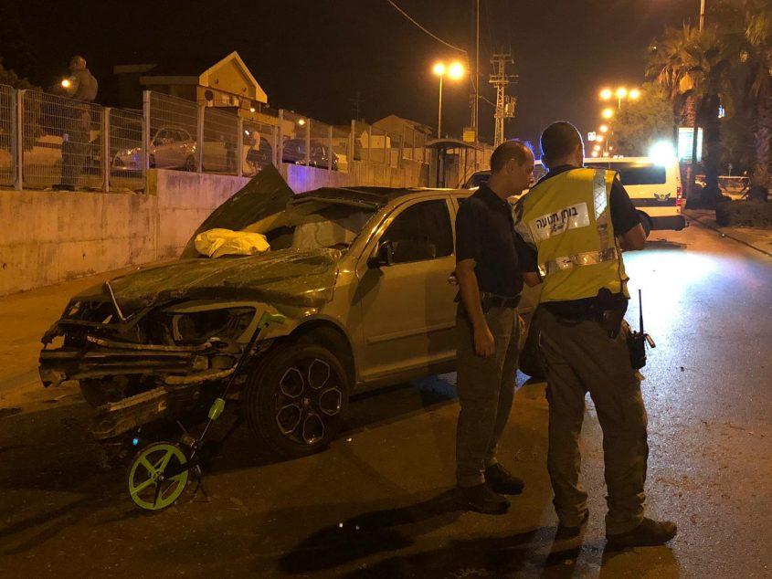 זירת התאונה. דוברות המשטרה