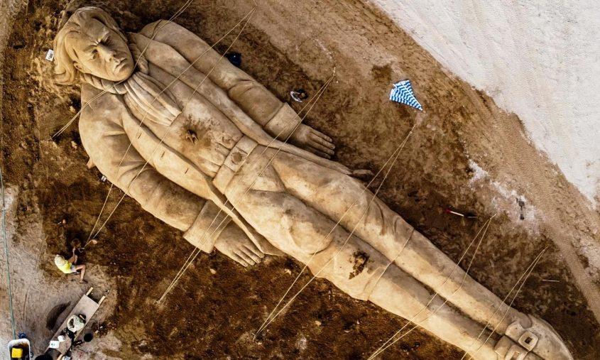 פסל חול של גוליבר. צילום: שלמה בן אל ויונה אלמוג