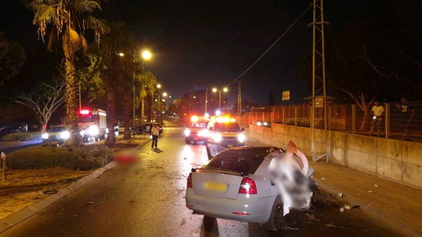 זירת התאונה. צילום: תיעוד מבצעי מדא