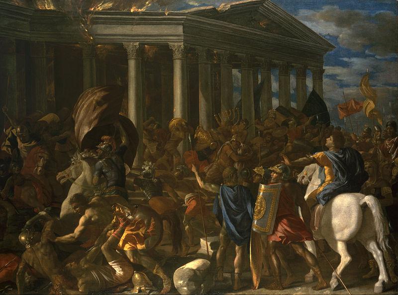 אש וחורבן בבית המקדש מאת ניקולא פוסין. מתוך ויקיפדיה