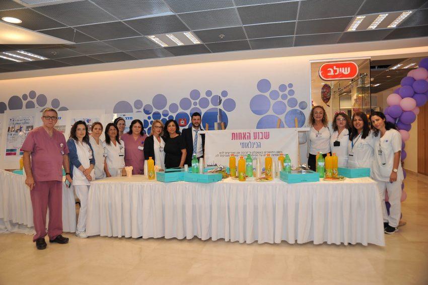 עובדים בשיתוף פעולה עם הצוותים בקהילה (צילום: המרכז הרפואי ברזילי)