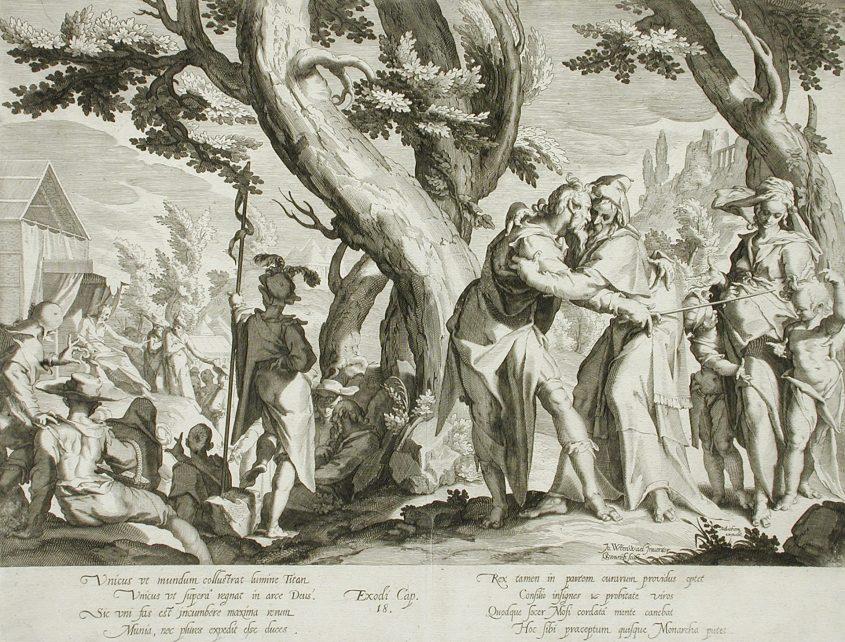 יתרו מציע למשה למנות שופטים. מתוך ויקיפדיה