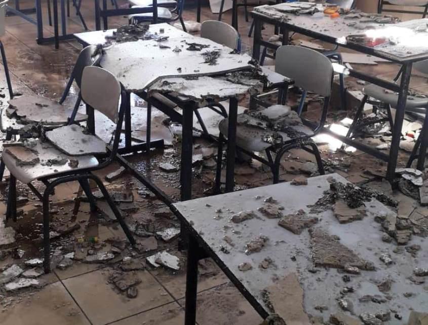 הנזק שנגרם לאחת הכיתות