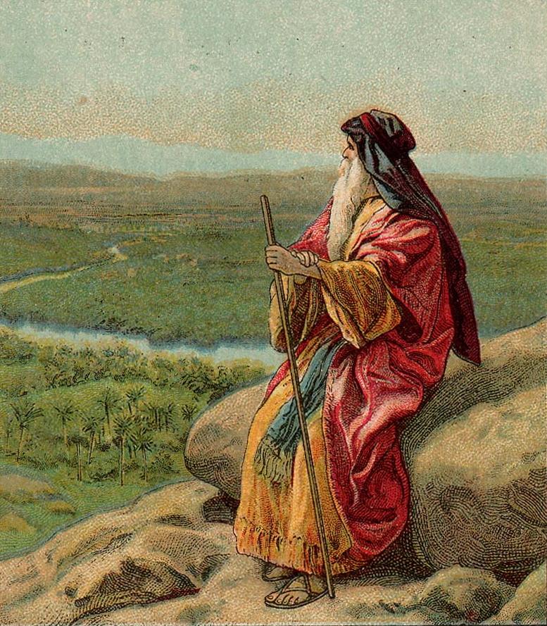 משה מתבונן על הארץ מפסגת הר נבו. מתוך ויקיפדיה