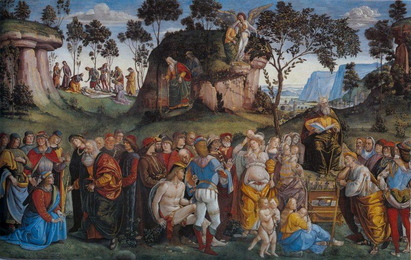 ברכת משה. פרסקו בקפלה הסיסטינית, מעשה ידי לוקה סיניורלי מתוך ויקיפדיה