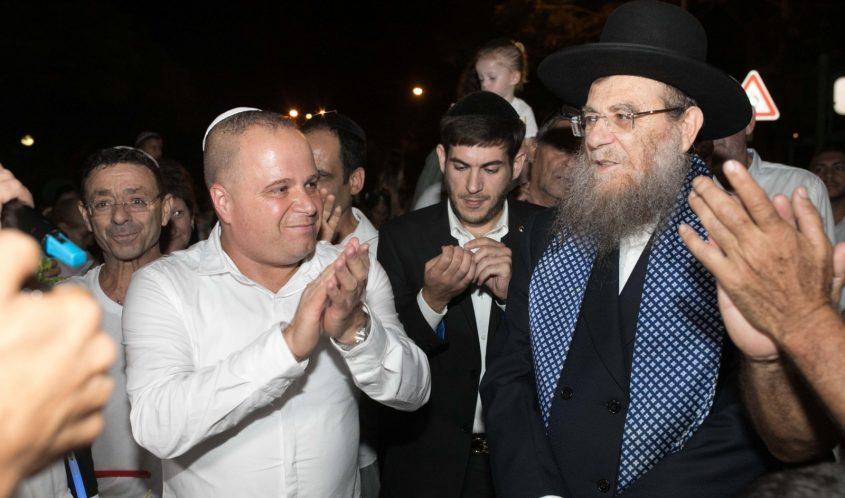 הרב יצחק ברדא ותומר גלאם. צילום: אלדד עובדיה
