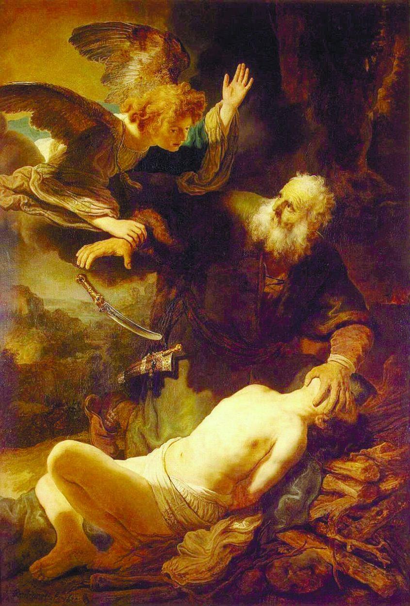 עקדת יצחק,רמברנדט 1635. מתוך ויקיפדיה