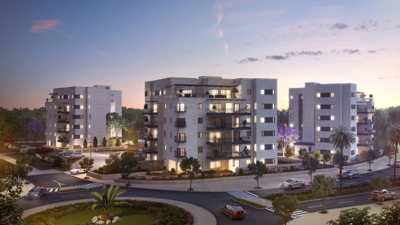 השילוב המושלם בין דירות מרווחות, בנייני מגורים איכותיים וסביבה פסטורלית (צילום: אנטרייס)