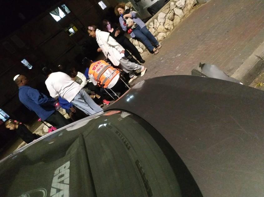 התאונה ברחוב ביאליק. צילום: דוברות איחוד הצלה
