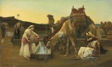 רבקה משקה את עבד אברהם ואת גמליו (אלכסנדר קבנל, 1883)מתוך ויקיפדיה