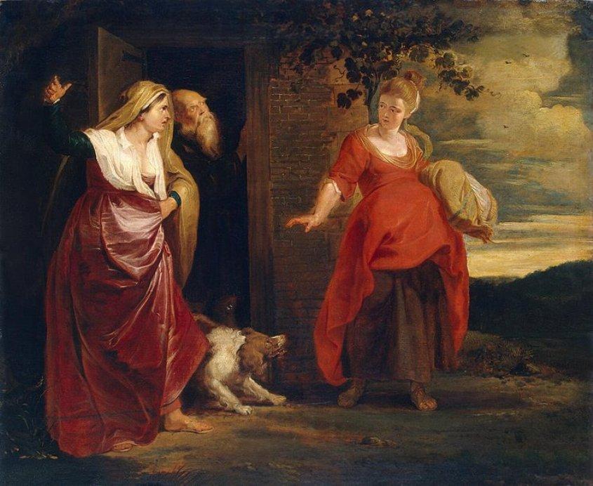 הגר ההרה עם אברהם ושרי. מאת פטר פאול רובנס