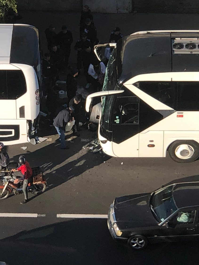 זירת התאונה במרוקו