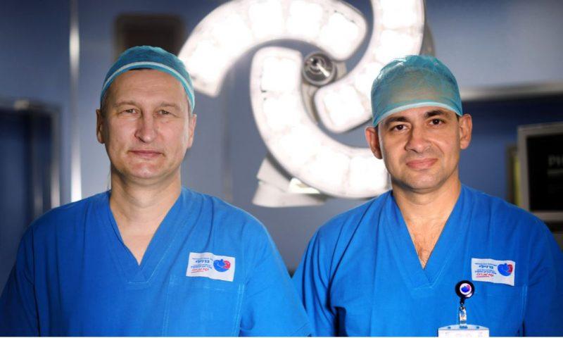 """ד""""ר בזברוב וד""""ר וינקלר. קרדיט: צילום רפואי ברזילי"""