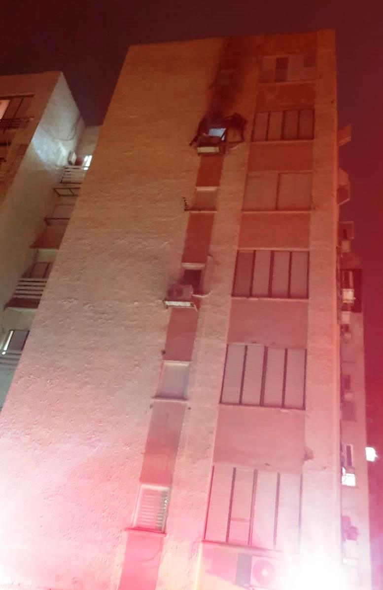 הבניין בו אירעה השריפה