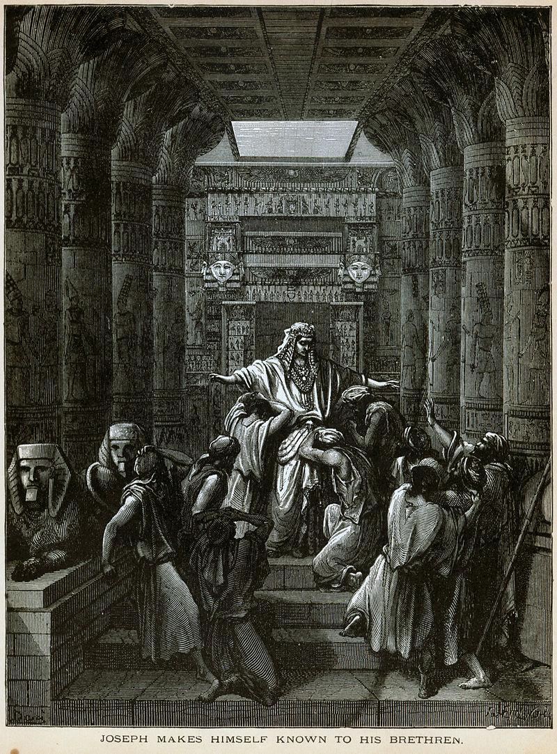 יוסף חושף את זהותו לאחיו, ציור מאת גוסטב דורה