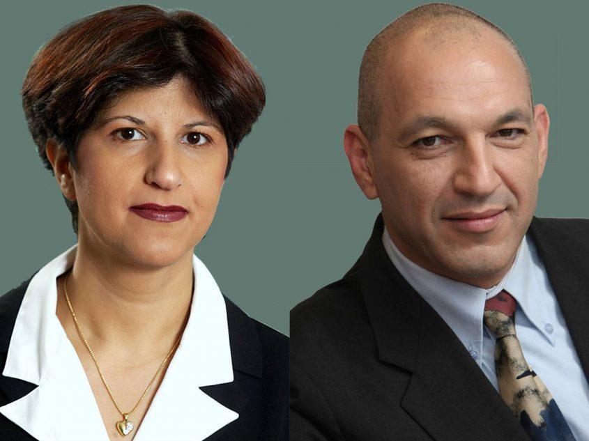 """עורכי הדין ורד כהן ורענן בר-און. צילום: יח""""צ"""