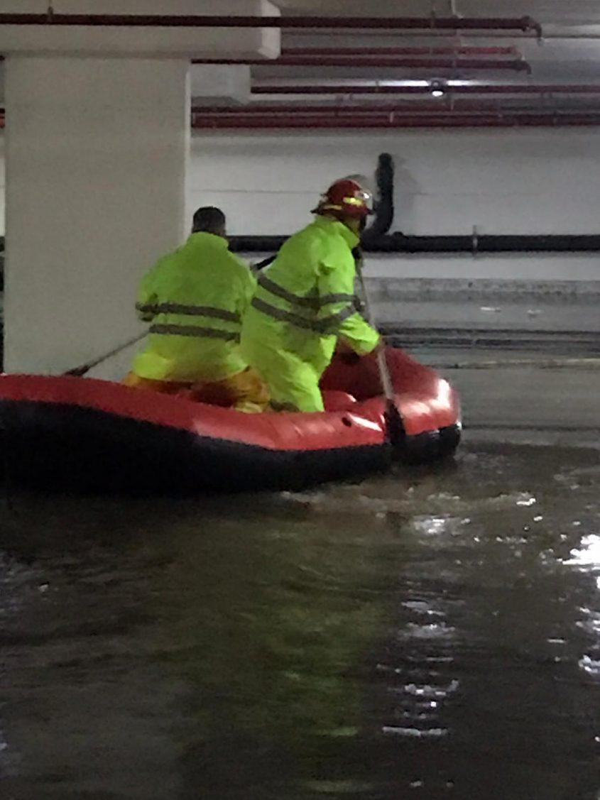 החילוץ מהחניון ברחוב הכרמל