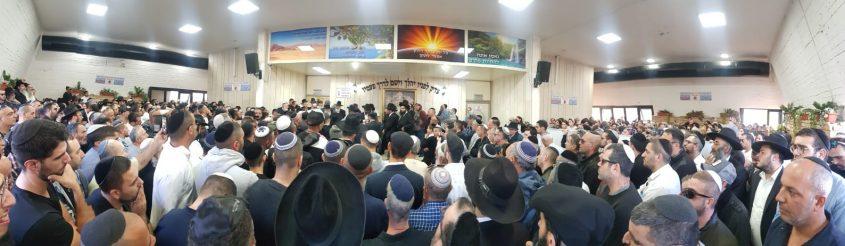 """ההמונים בהלווית הרב דוד לוי ז""""ל. צילום: מוטי זילברברג"""