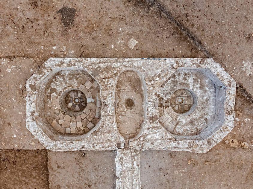 גתות היין מהתקופה הביזנטית. צילום: אסף פרץ, רשות העתיקות