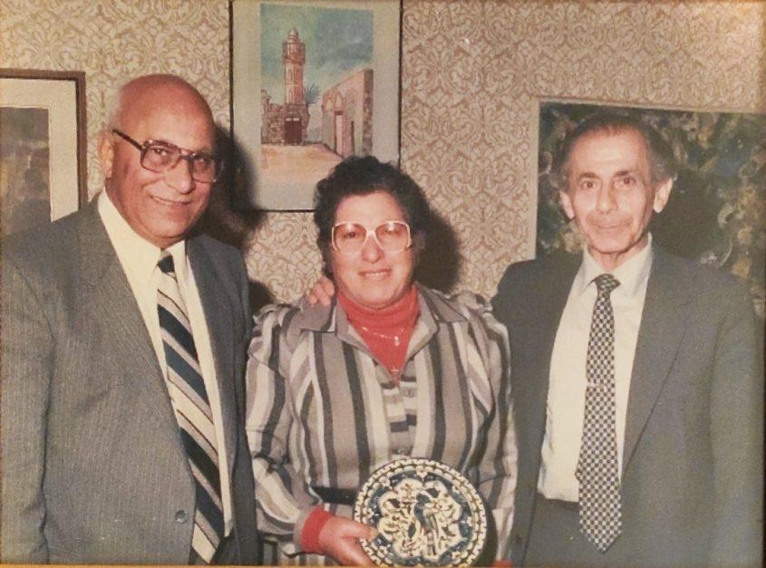 משמאל: גורג'י אליעזר, ברטה ויו''ר הכנסת לשעבר שלמה הלל