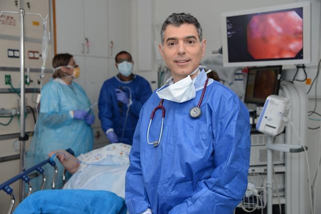 דר אמיר בר-שי מנהל מערך הריאות בברזילי. צילום: מורן ניסים, צילום רפואי ברזילי