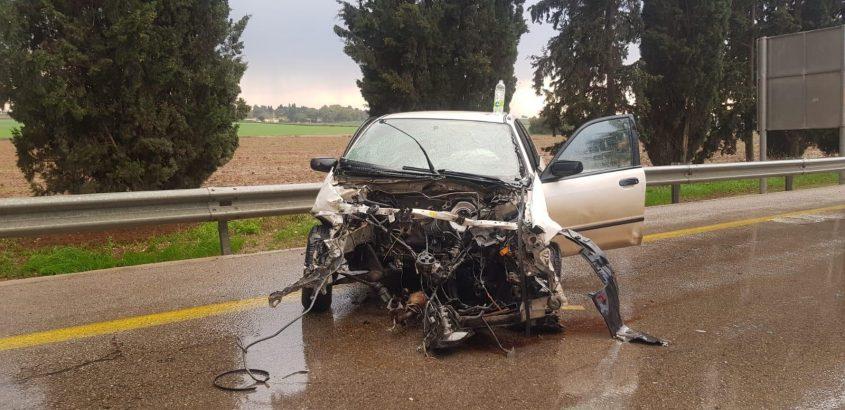 תאונה חזיתית. צילום: יעקב בר יוחאי, איחוד הצלה