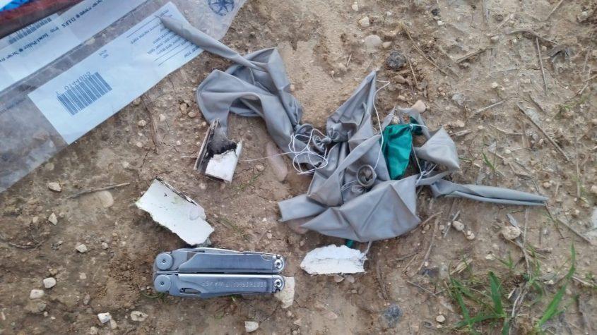 בלון נפץ שנמצא השבוע. צילום: דוברות המשטרה