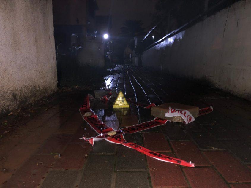 זירת הירי. צילום דוברות המשטרה