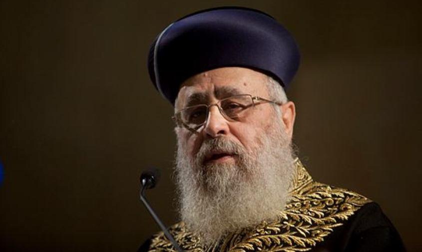 הרב יצחק יוסף. צילום: ליאור מזרחי