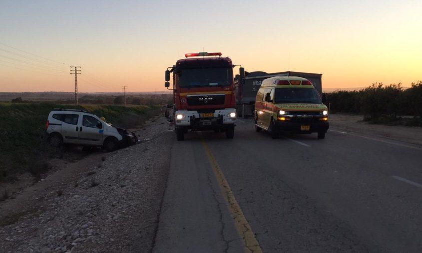 זירת התאונה בכביש 242.