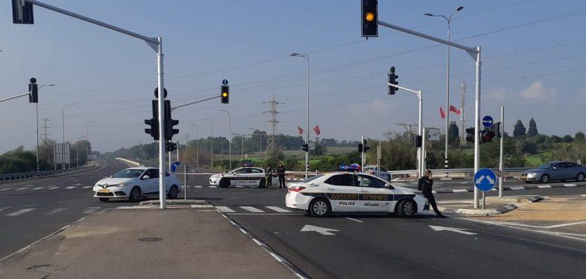 צומת זיקים על כביש 4 חסום לתנועה דרומה. צילום: אלירם משה