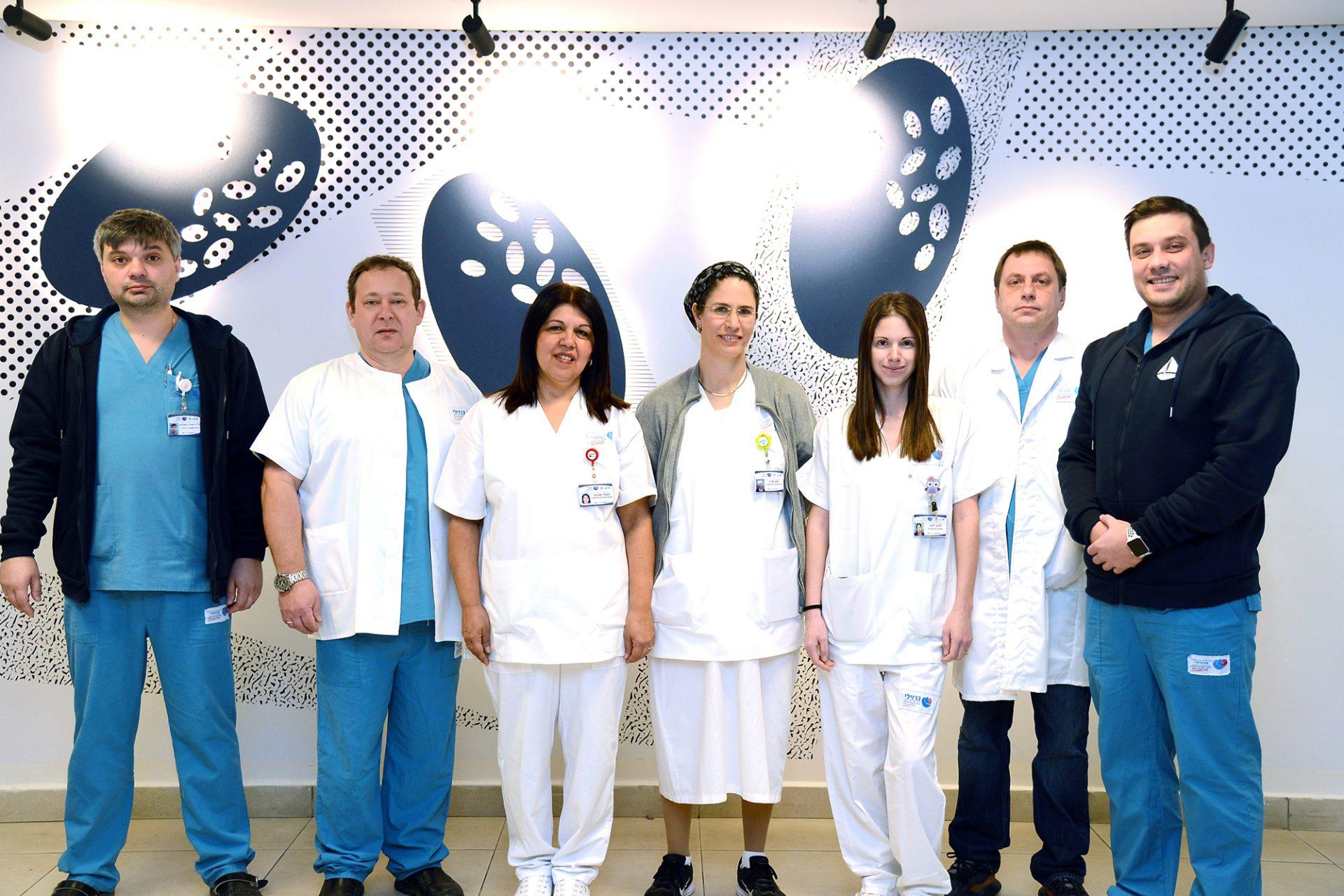 היחידה האורולוגית במרכז הרפואי ברזילי: משפחה אחת, מחלקה אחת. צילום רפואי ברזילי