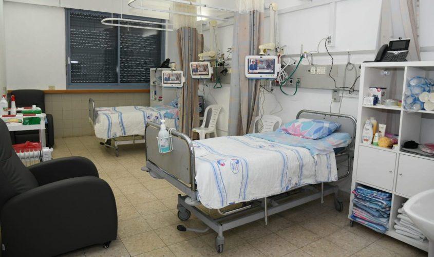 מחלקת הקורונה במרכז הרפואי ברזילי. צילום: דוד אביעוז, דוברות ברזילי